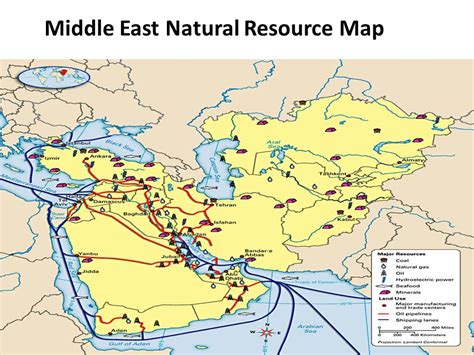 middle east resources map geography of the middle east at a glance ppt