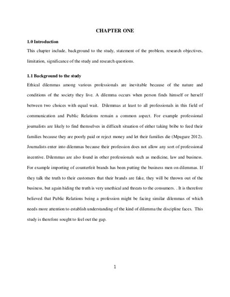 sample of significance of study in research paper fariat juma s work on quot ethical dilemma facing public