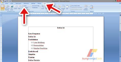 membuat daftar isi otomatis pada microsoft word cara membuat daftar isi dengan titik titik otomatis di