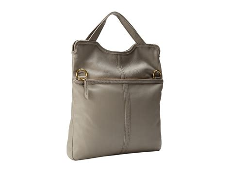 Fossil Tote Grey Bag Zb7126020 fossil erin tote light grey shipped free at zappos