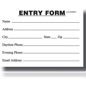 entry blank entry form pad  store