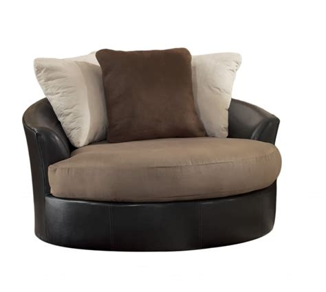 oversized swivel chair leather masoli mocha faux leather fabric oversized swivel accent