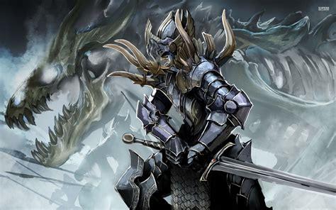 anime knight girl wallpaper anime knight wallpaper hd