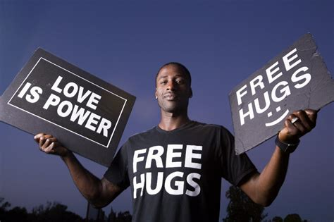 free hug guy san diego s free hugs guy gains fame embracing one and