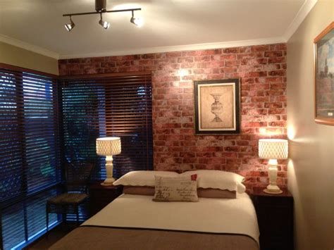 rustic brick wallpaper in bedroom rustic bedroom
