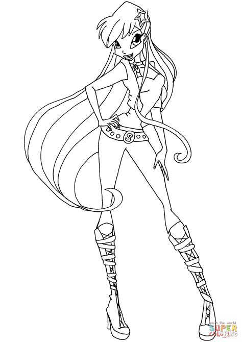 stella color winx club coloring pages stella in eson me