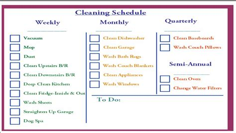 house cleaning schedule daily cleaning template office new calendar template site