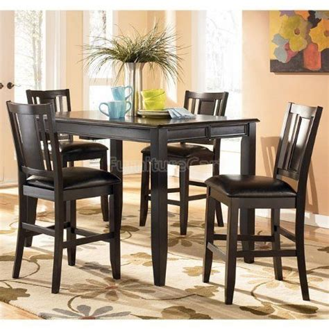 carlyle dining room set carlyle counter height dining room set d371 32 dr set by