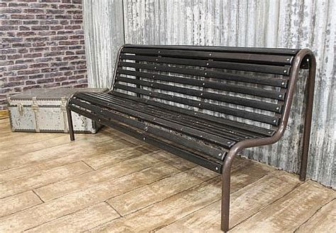 industrial park benches original vintage bench an authentic bench for inside or