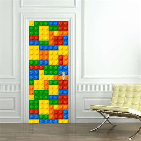 bedroom door stickers children lego building module door stickers bedroom door creative self adhesive