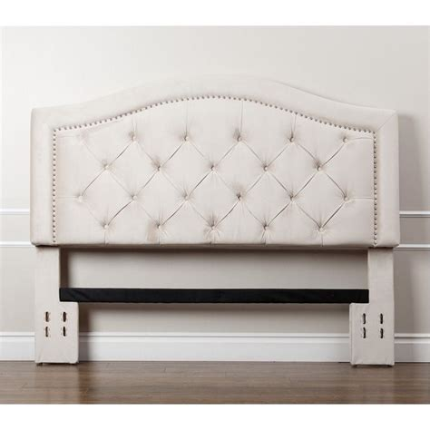 velvet king headboard bowery hill tufted velvet king california king headboard