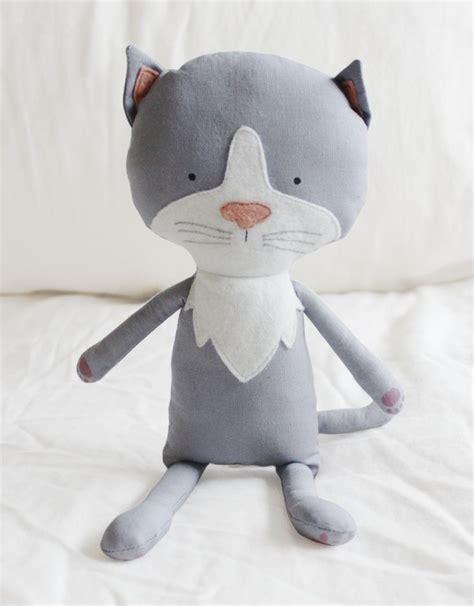 pattern for cat stuffed animal kitten cat sewing pattern softie plush toy cloth doll