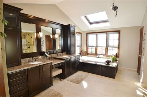 dark wood master bathroom traditional bathroom