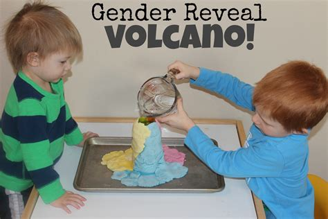 Gender Reveal Volcano!!   Teaching Mama
