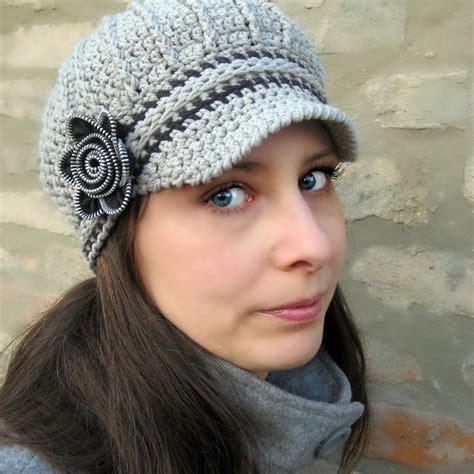 pattern crochet newsboy hat newsboy hat with zipper flower crochet pattern and tutorial