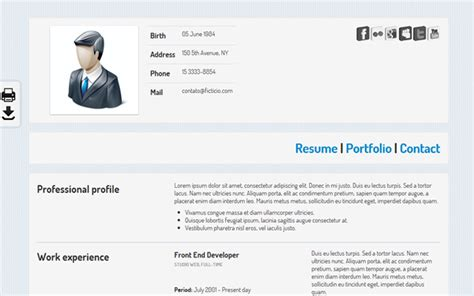 Bootstrap Resume Template Ko Cv Selling For 4 00