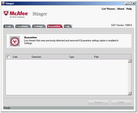 ccleaner quarantine how to fix mcafee stinger