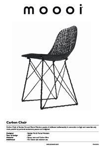 chaise pot bébé chaise luge en fibre de carbon carbon chair by moooi