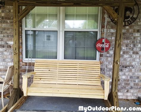 diy porch swing  stand myoutdoorplans