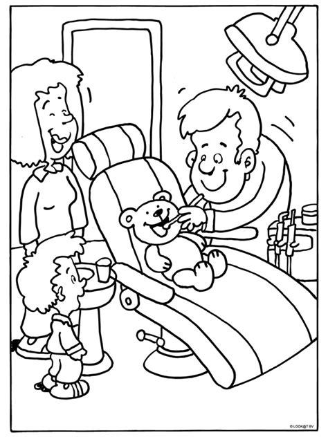 health coloring pages preschool kleurplaat thema tandarts kleuters theme dentist
