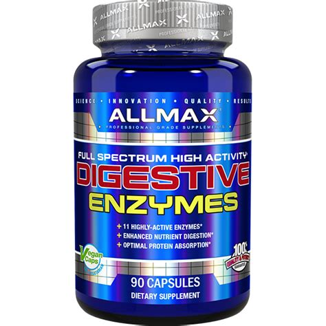 supplement enzymes allmax nutrition digestive enzymes 90 caps