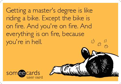 getting a master s degree is like a bike except