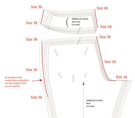 sewing pattern grading grading between sizes for the jedediah pants pants