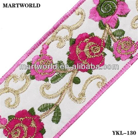 Handmade Embroidery Designs - embroidered trim handmade embroidery designs ykl 001
