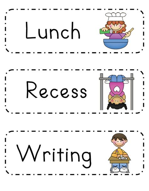 preschool classroom schedule template mrs ricca s kindergarten daily schedule freebie