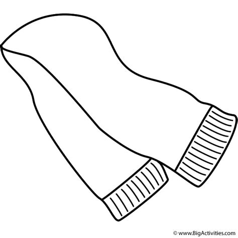 coloring page winter scarf scarf coloring page clothing