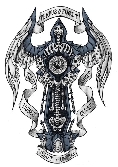 tempus fugit tattoo designs memento mori by darksilvania on deviantart