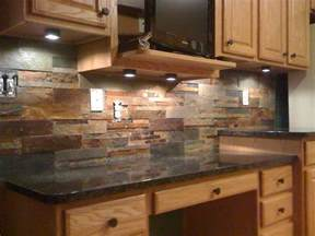 natural stone backsplash tile home design ideas kitchen pinterest