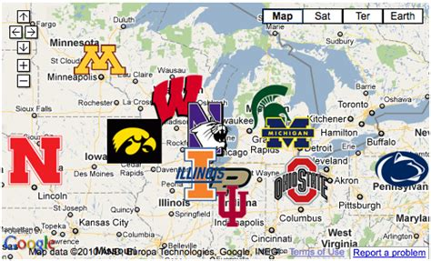 big ten map big ten expansion the wolverine archives