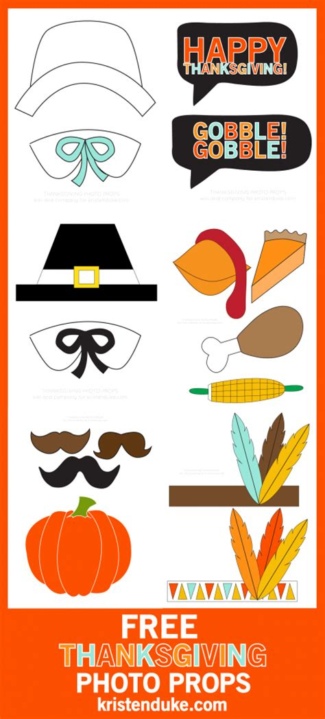 thanksgiving photo booth props thanksgiving photo booth free printables
