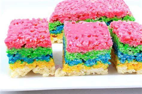 colored rice krispie treats rainbow rice krispies treats