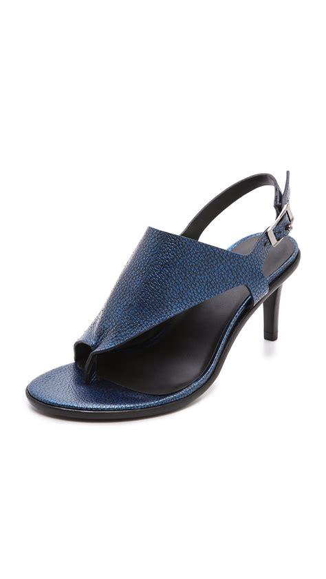 tibi sandals tibi kel cutout sandals caspian blue in blue lyst