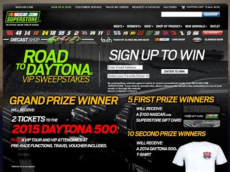 Vip Ticket Giveaway Vacation - road to daytona vip nascar racing experience sweepstakes sweepstakes fanatics