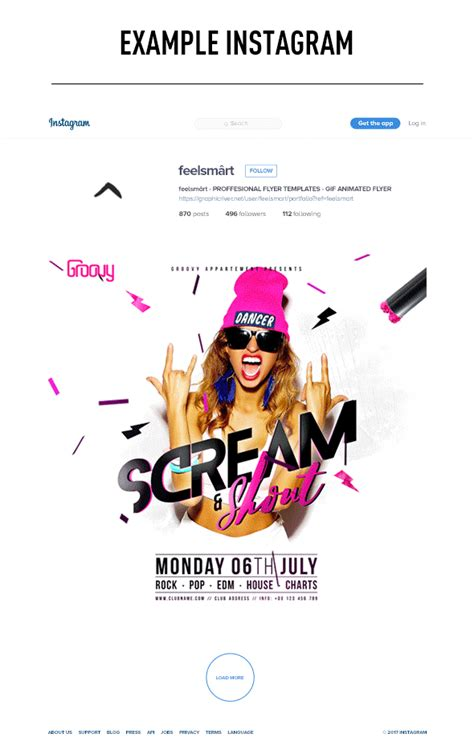 Scream Shout Flyer Template Gif Animation Action By Animated Flyer Templates