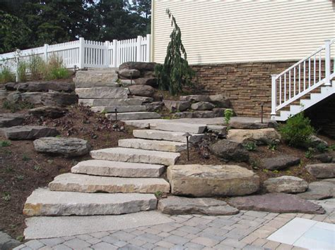 landscaping stairs natural stone steps