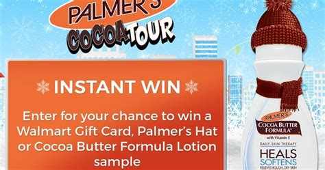 Take 5 Instant Win - palmer s cocoa butter instant win giveaway win 5 walmart