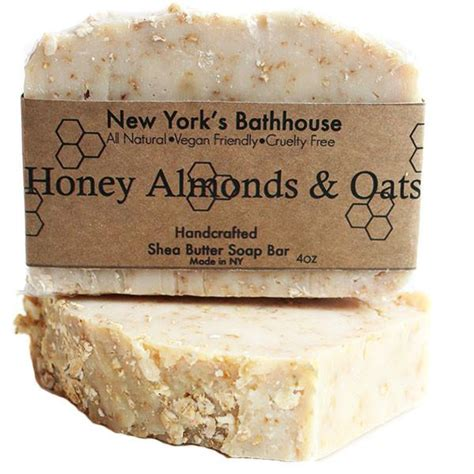 Handmade Soap Nyc - honey almonds oats cold process soap bar new york s