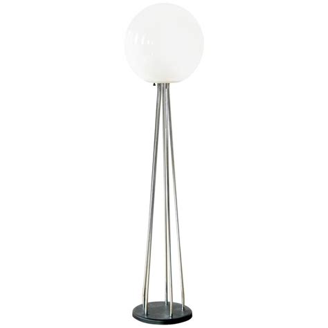 glass ball floor l chrome and glass ball floor l for sale at 1stdibs