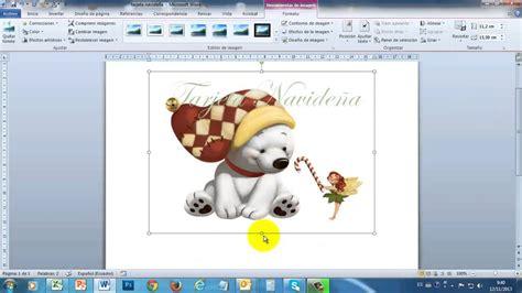 imagenes navidad word tarjeta navide 241 a en word 2010 part1 youtube