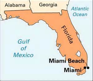 where is miami florida located on the map miami location encyclopedia children s homework