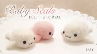 making baby seals with needle felt easy kawaii craft