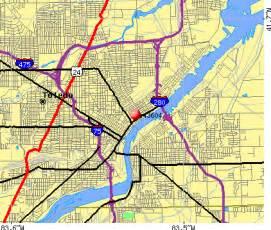 Toledo Zip Code Map by Toledo Gang Map Quotes