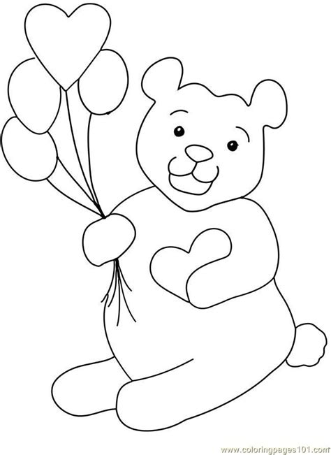 teddy bear valentine coloring page coloring pages teddy bear valentine heart balloon