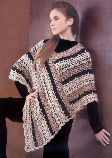 cape pattern pinterest crochet pattern for poncho crochet striped poncho by