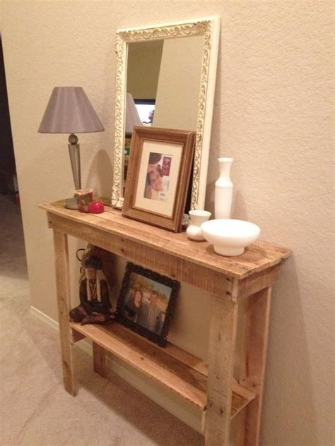 home decor made from pallets rustic foyer table made from pallets my mom is home