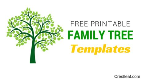 family history tree template crestleaf genealogy ancestry records 5 free family